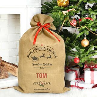 Idée géniale : le sac de Noël personnalisé A-qui-S